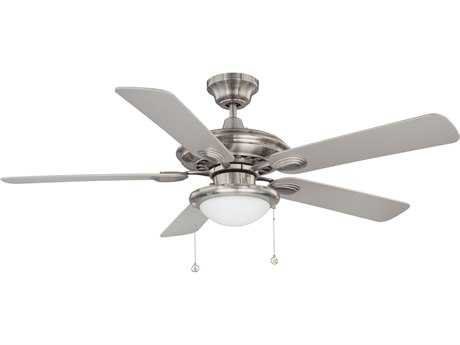 Kendal Lighting Builder Choice Satin Nickel with Silver Blades 52'' Wide Ceiling Fan with Light KENAC18152SN