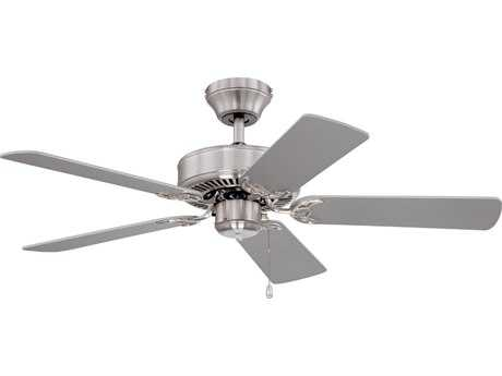 Kendal Lighting Builder Choice Satin Nickel with Silver & White Switch Blades 42'' Wide Ceiling Fan KENAC6842SN