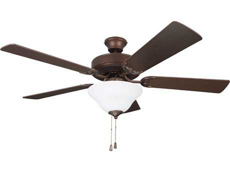 Kendal Lighting Builder Choice Oil Rubbed Bronze 52'' Wide Ceiling Fan with Light