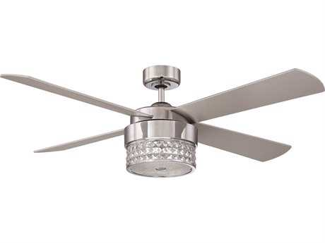 Kendal Lighting Celestra Chrome & Optic Crystal with Silver Blades 52'' Wide Three-Light Ceiling Fan KENAC20952CH