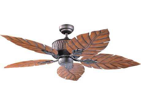Kendal Lighting Fern Leaf Oil Rubbed Bronze with Oak Fern Leaf Blades 52'' Wide Ceiling Fan KENAC13152ORB