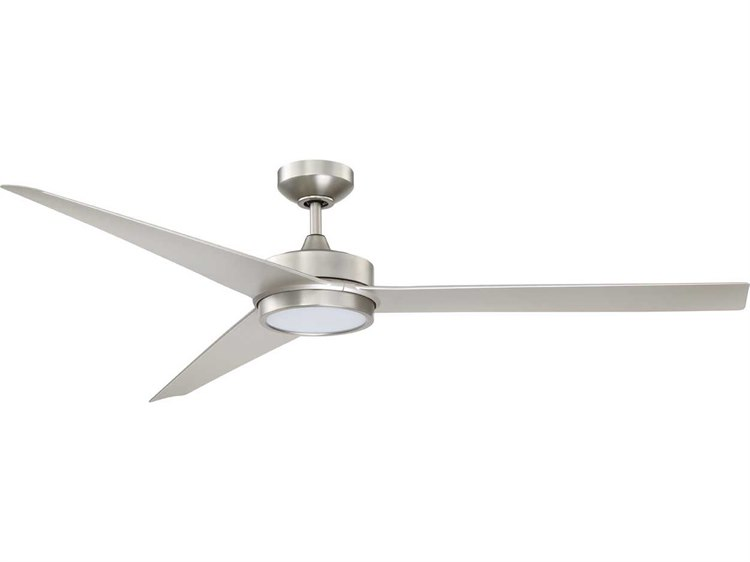 Kendal Lighting Gamma Satin Nickel 60 Wide Ceiling Fan With Led Light