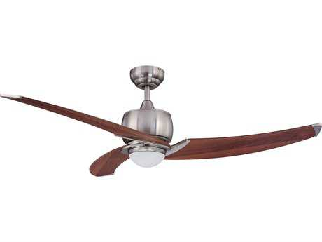 Kendal Lighting Treo Satin Nickel with Royal Walnut Blades 52'' Wide Ceiling Fan with Light KENAC17152SN