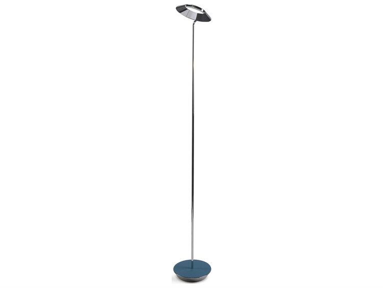 Koncept Royyo Chrome / Azure LED Floor Lamp ...