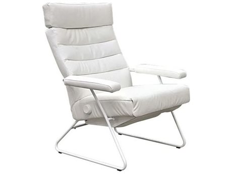 Lafer Adelle White Recliner with White Base L3LFADWFC00
