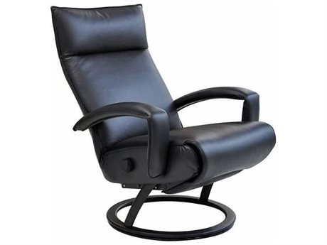 Lafer Gaga Black Recliner with Black Base L3LFGABFC14