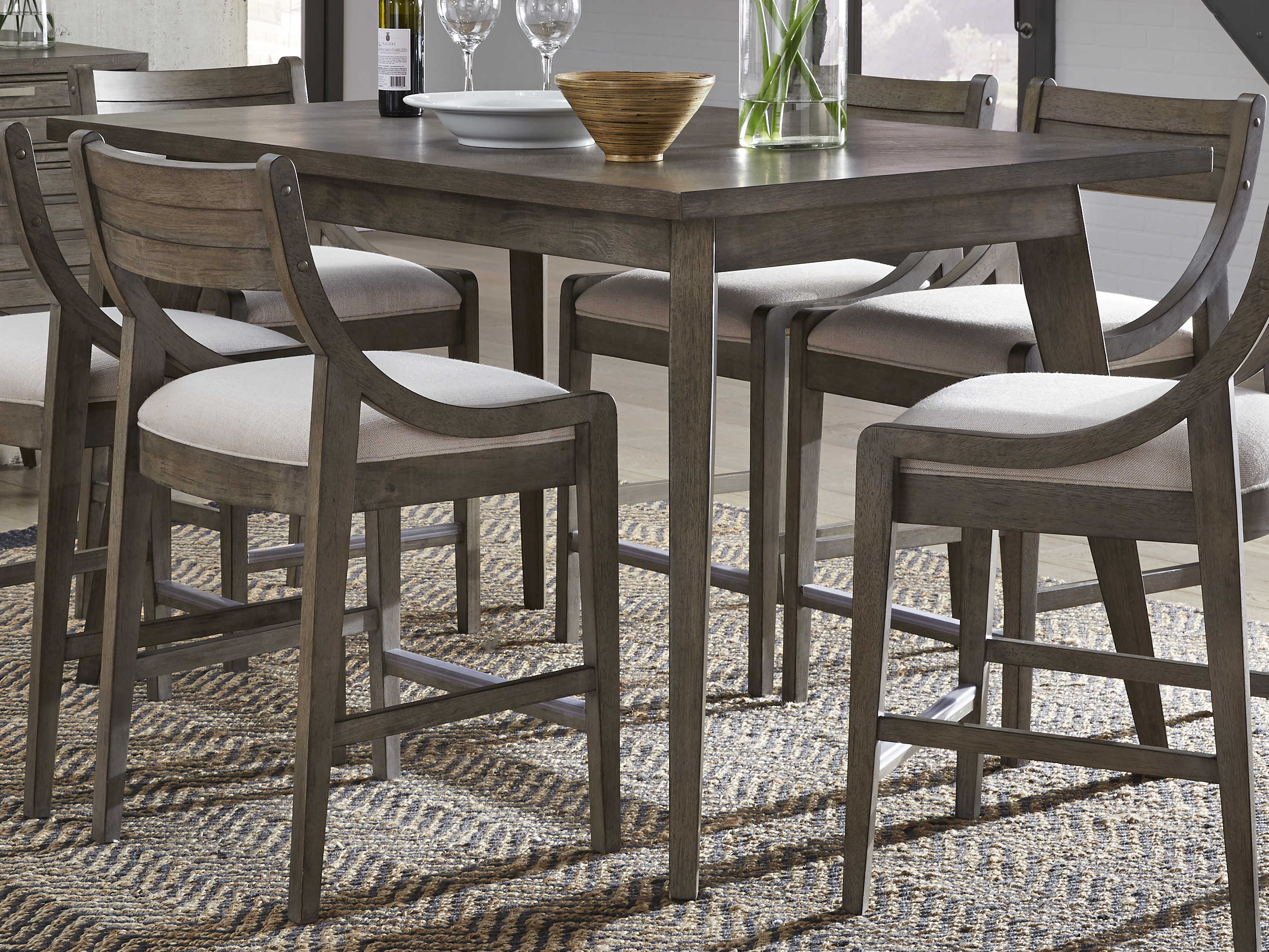 Legacy Classic Furniture Greystone Ash, Counter High Dining Room Table Sets