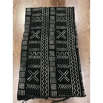 Legend of Asia Black African Mudcloth Geometric Throw LOA25087