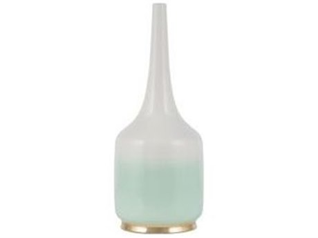 Legend of Asia White & Mint Green Anderson Ceramic Vase LOAG700019
