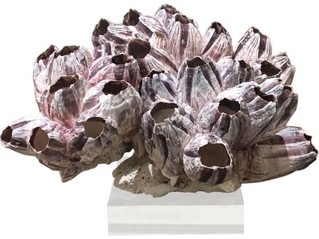 Legend of Asia Mauve Medium Barnacle Coral Sculpture LOA8071M