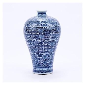 Legend of Asia Blue & White Blossom Plum Porcelain Vase