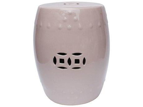 Legend of Asia Blush Pink Porcelain Garden Stool