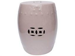 Blush Pink Porcelain Garden Stool