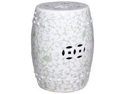Celadon Green Stool With Twisted Lotus