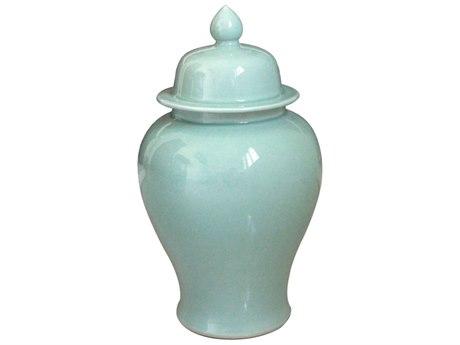 Legend of Asia Celadon Medium Temple Jar LOA1801MCL