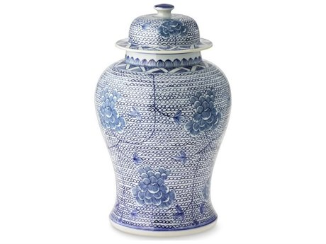Legend of Asia Blue & White Chain Temple Jar LOA1172SIZES