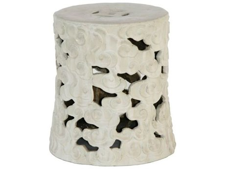 Legend of Asia Vanilla Large Cloud Garden Stool