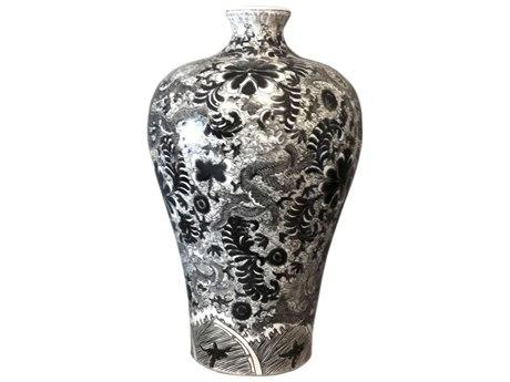 Legend of Asia Black Dragon Prunus Vase