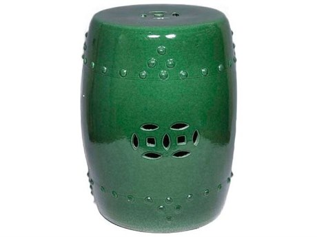 Legend of Asia Emerald Green Porcelain Garden Stool