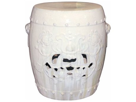 Legend of Asia Vanilla Flower Garden Stool