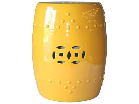 Legend of Asia Sunshine Yellow Garden Stool