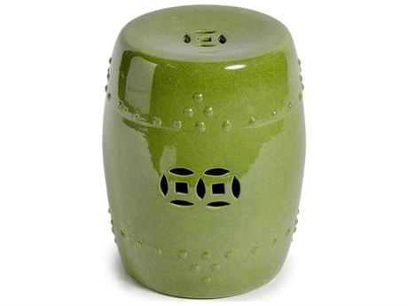 Legend of Asia Lime Green Garden Stool