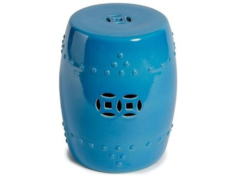Legend of Asia Turquoise Blue Garden Stool