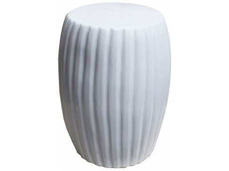 Legend of Asia White Porcelain Pumpkin Garden Stool