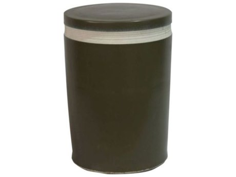 Legend of Asia Matte Black Porcelain Cylinder Garden Stool