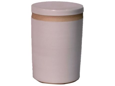 Legend of Asia Matte White Porcelain Cylinder Garden Stool