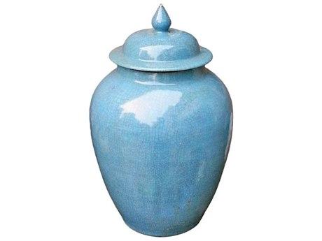 Legend of Asia Light Blue Crackle Porcelain Ginger Jar LOA1837