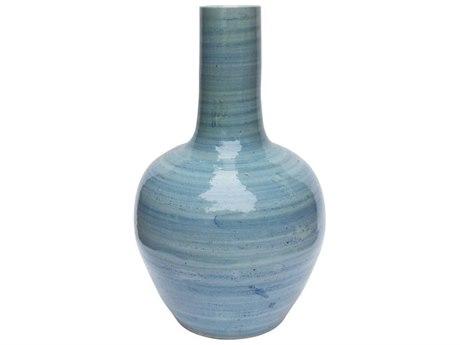 Legend of Asia Light Blue Globular Vase