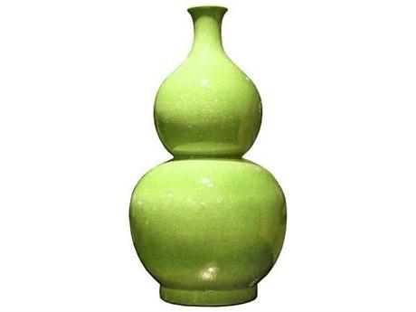 Legend of Asia Lime Green Gourd Vase