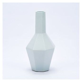 Legend of Asia White Large Hex Spindle Vase