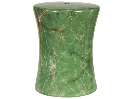 Legend of Asia Jade Green Jade Drum Stool LOA2024JG