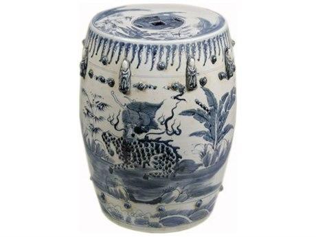 Legend of Asia Blue & White Kylin Garden Stool