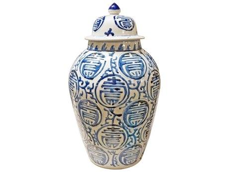 Legend of Asia Blue & White Longevity Heaven Jar LOA1929