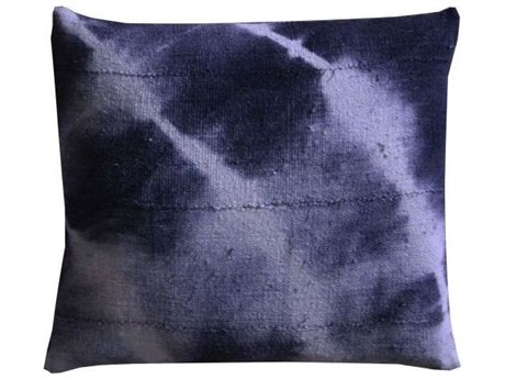 Legend of Asia Washed Indigo 18'' Square Dawn Washed Mudcloth Pillow LOAP063A