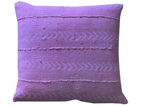 Legend of Asia Pink 18'' Square Arrows Mudcloth Pillow LOAP094A
