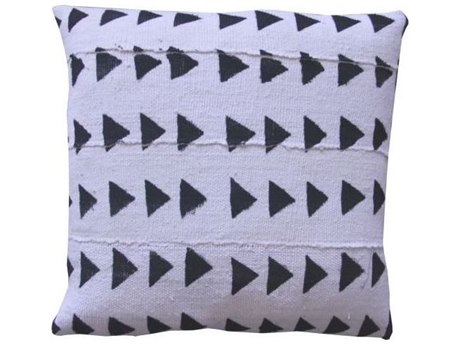 Legend of Asia White 18'' Square Mudcloth Pillow LOAP010A