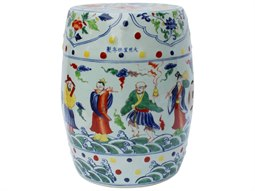Multi Colored Porcelain Garden Eight Immortals Stool