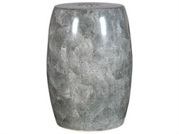 Shagreen Grey Barrel Porcelain Garden Stool