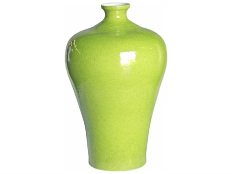 Legend of Asia Lime Green Small Prunus Vase