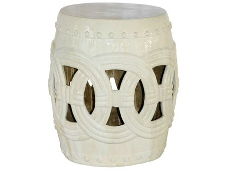 Legend of Asia Vanilla Small Rope Garden Stool