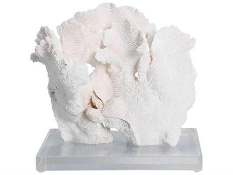 Legend of Asia White Medium Rugosa Coral Sculpture