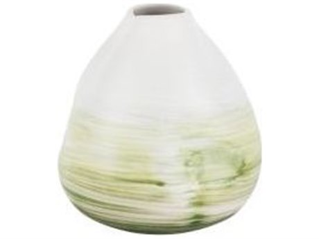 Legend of Asia White with Green Small Scott Vase