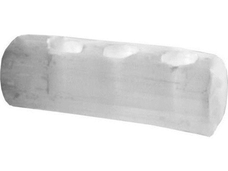 Legend of Asia Small Selenite Three-Light Candle Log