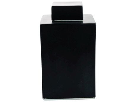 Legend of Asia Black Square Tea Jar