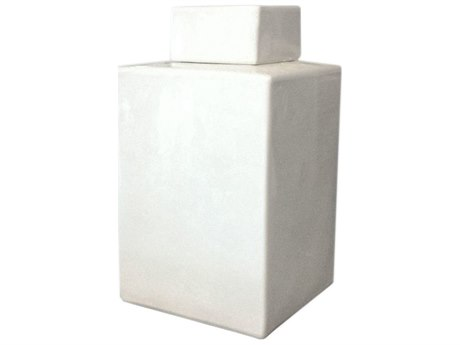 Legend of Asia White Square Tea Jar