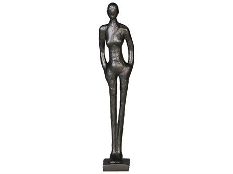 Legend of Asia Black Large Standing Figure Sculpture